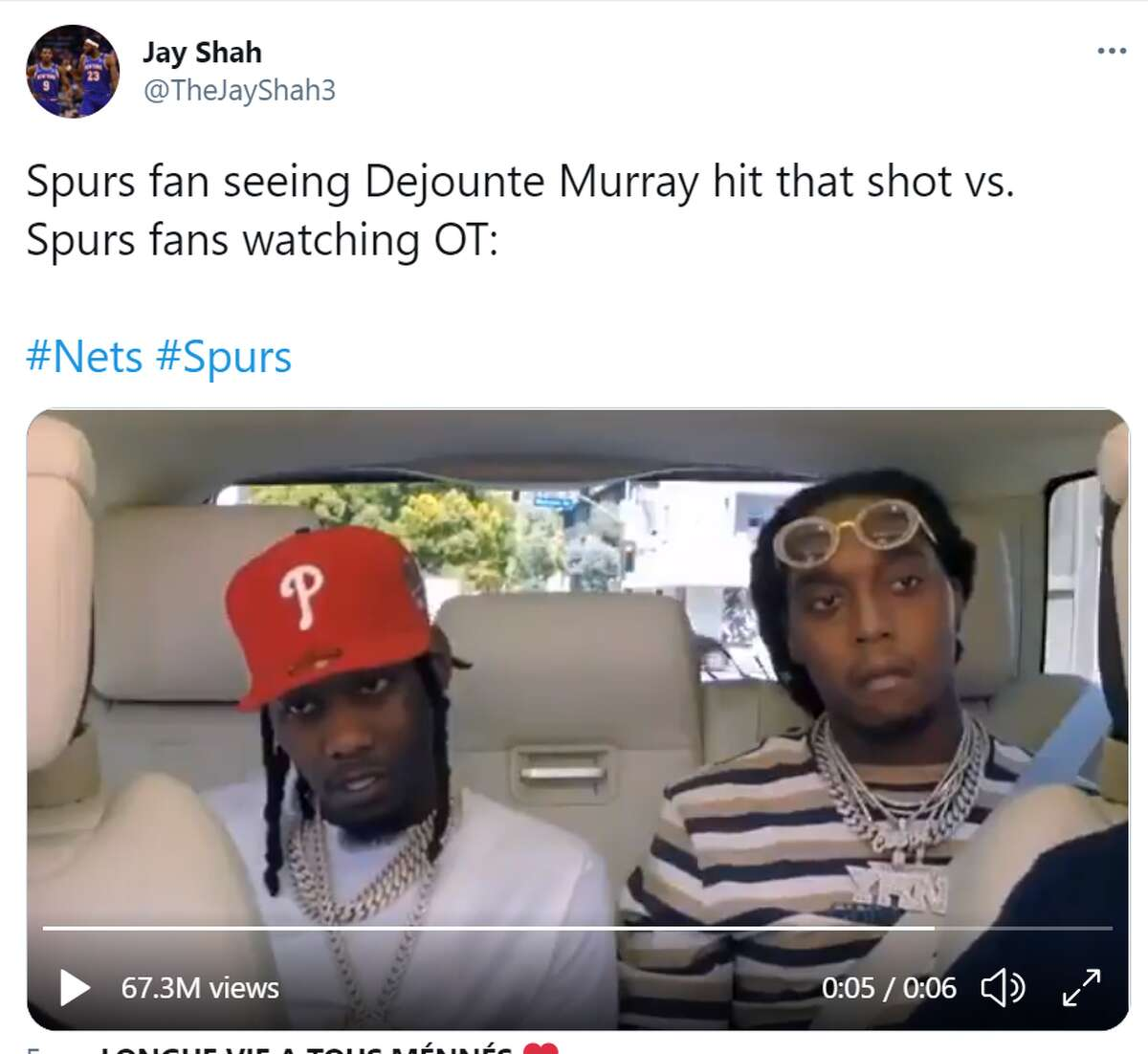 vs. Spurs fans watching OT