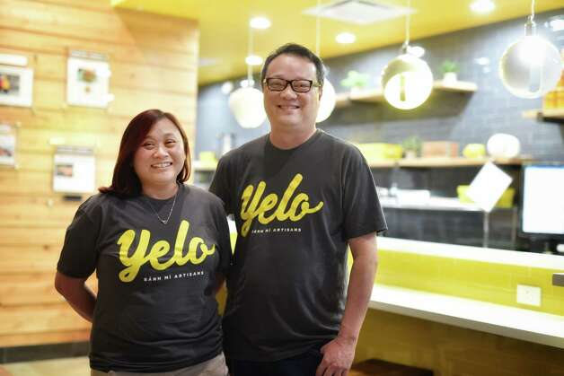 Vietnamese iced coffee at Yelo, a new craft banh mi shop in Katy from Phat Eatery owner Alex Au-Yeung with a menu from Cuc Lam. Photo: Kimberly Park / Kimberly Park