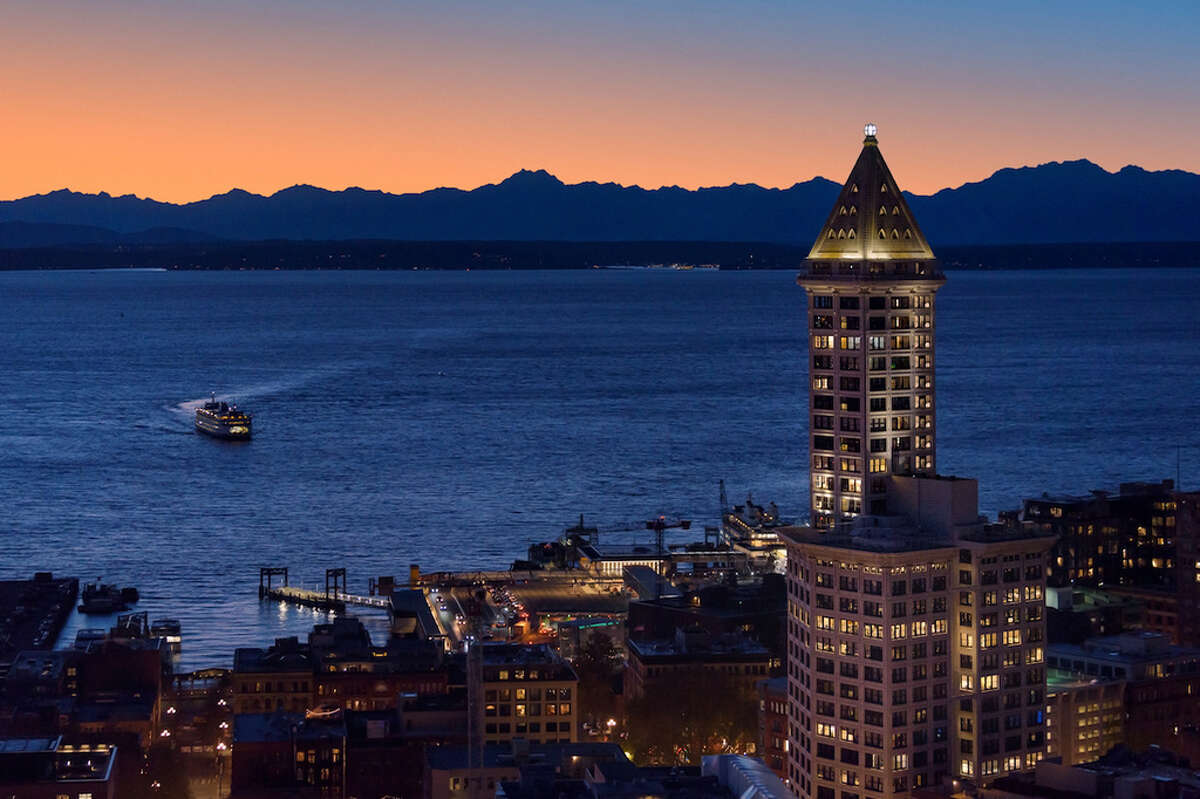 Smith Tower penthouse for rent in Seattle.