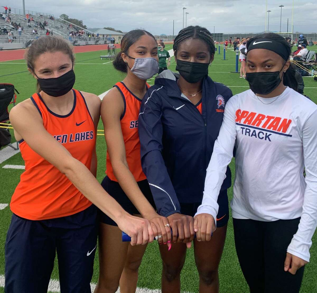 Seven Lakes won the girls team championship at the Bubba Fife Relays, scoring 197 points including a win in the 1,600-meter relay run by Avary Catchings, Ibiso David-West, Alyssa Tate and Haley Tate.