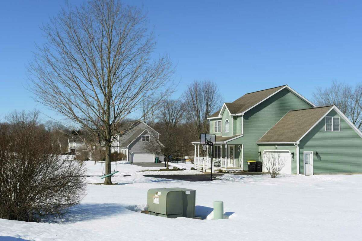 A view of some of the homes on Vienna Court on Tuesday, March 2, 2021, in the Town of Ballston, N.Y. (Paul Buckowski/Times Union)