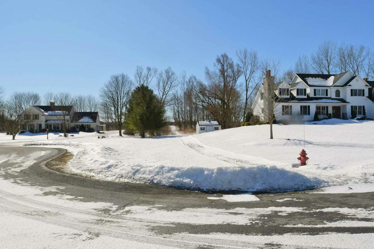 A view of homes on Stewart Court on Tuesday, March 2, 2021, in the Town of Ballston, N.Y. (Paul Buckowski/Times Union)