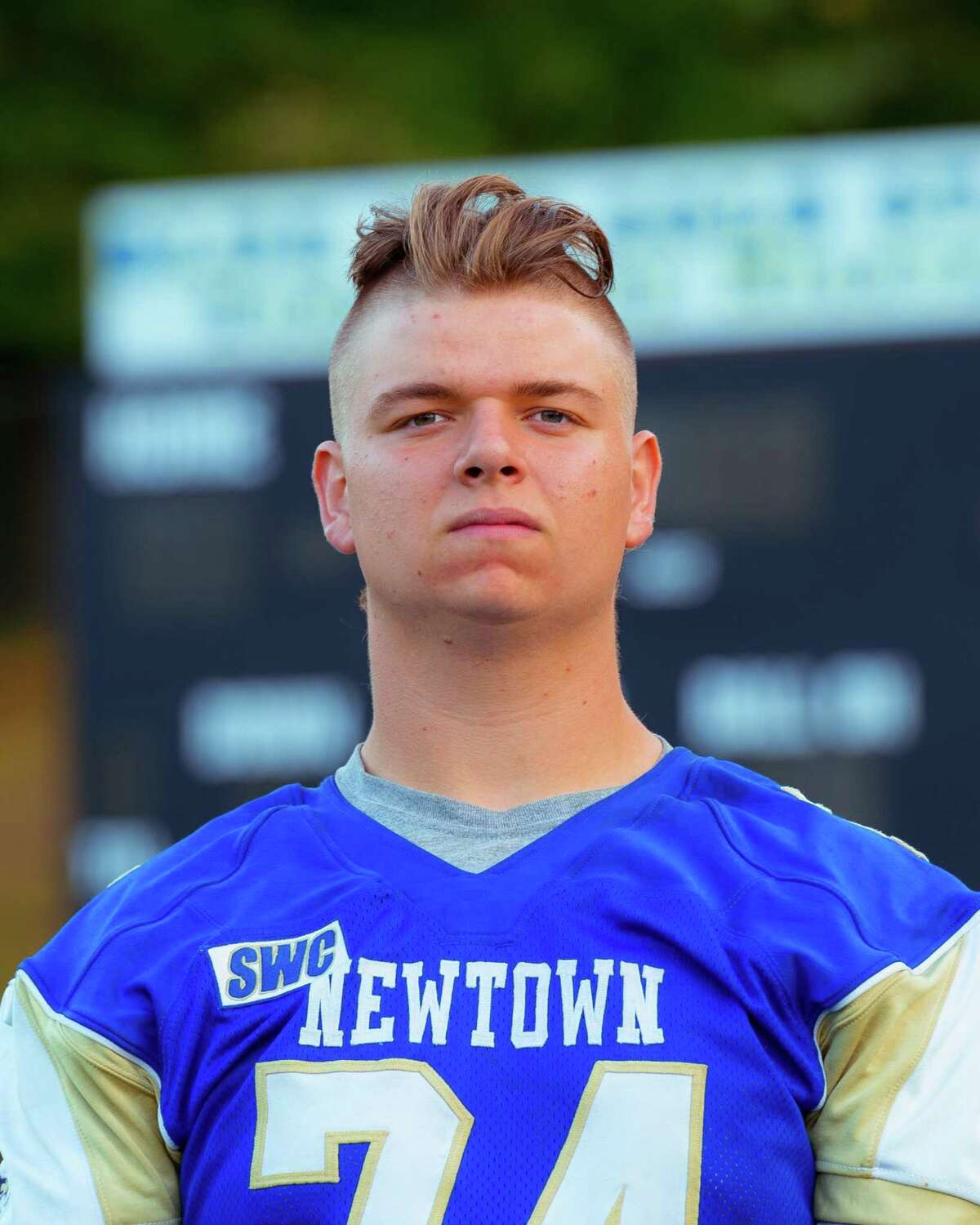 Brandon Hensel when he was a student and football player at Newtown High School.