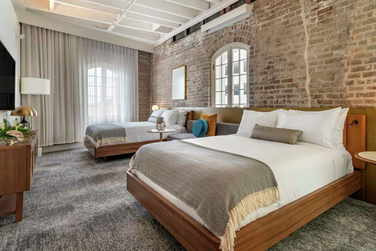 Design details within the 83 guest rooms at ONE11 Hotel, a new boutique hotel housed in a former sugar refining company,at 111 Iberville in New Orleans. It is the first new hotel to open in the French Quarter in more than 50 years.