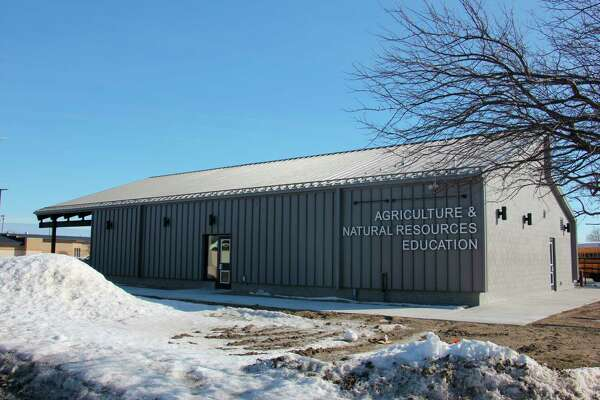 North Huron's latest construction projects, funded by an $8 million bond proposal that was passed in 2018, included an agriculture learning lab and a 96-foot greenhouse. (Paige Withey/Huron Daily Tribune)