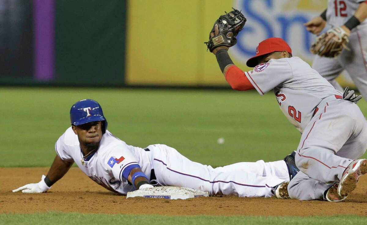 New A's shortstop Elvis Andrus has 305 career stolen bases, the second most among active MLB players.