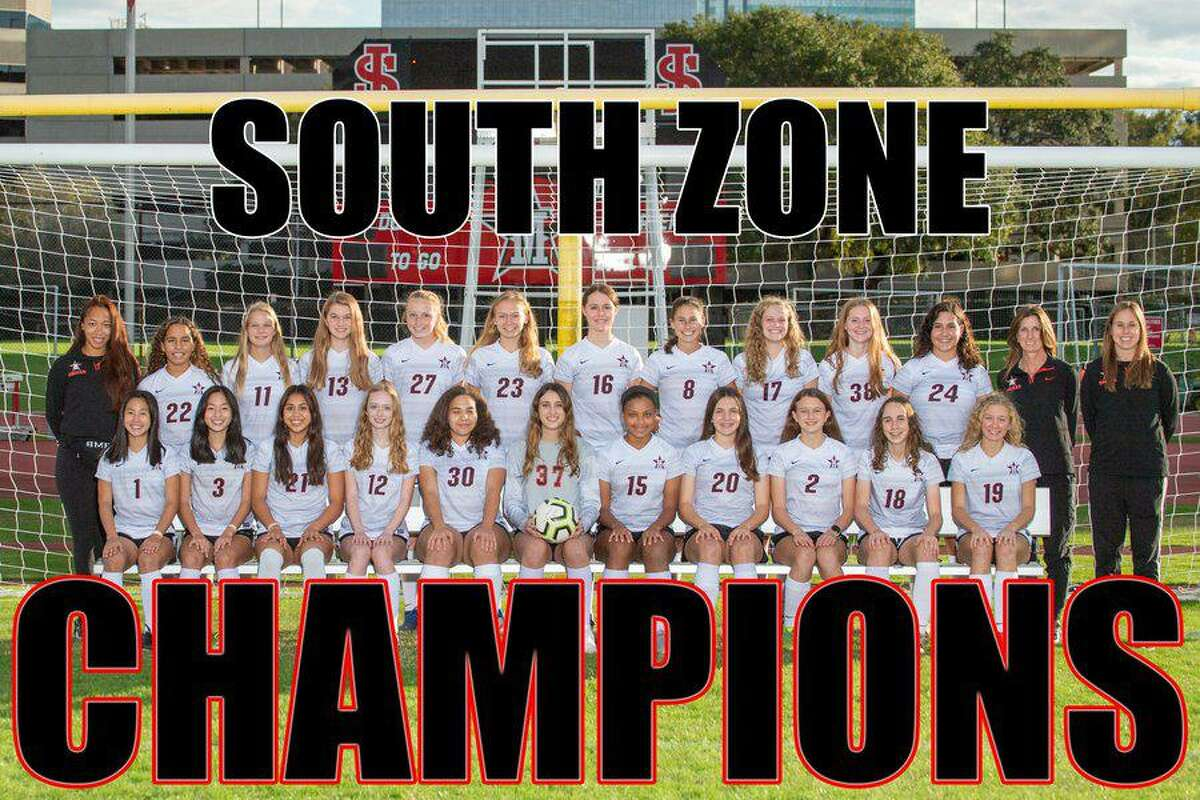 The St. John's School girls soccer team won the SPC South Zone championship, finishing 6-0-0 in zone matches and 9-1-0 overall.