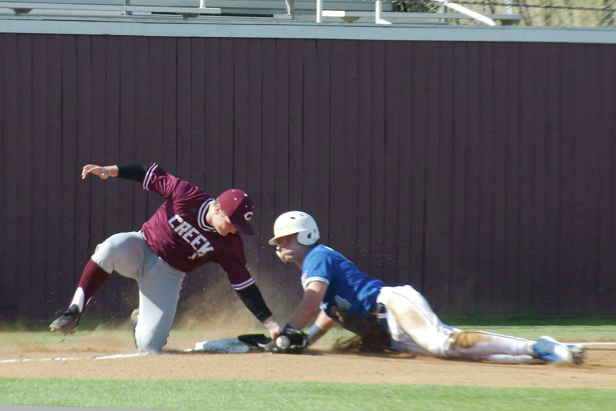 Clear Creek third baseman Maddux Eckart gives the Wildcats a strong presence on the infield as well as the pitching mound.