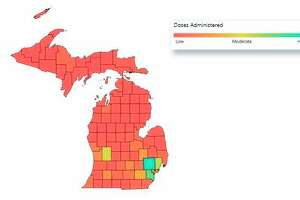 There have been 7,606 COVID-19 vaccine doses administered in Manistee County. (Screenshot from MDHHS website)