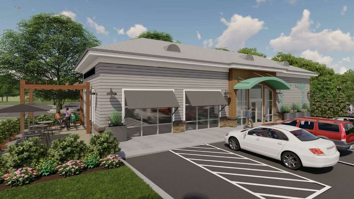 A rendering showing a proposed development off Main Street in Stratford.