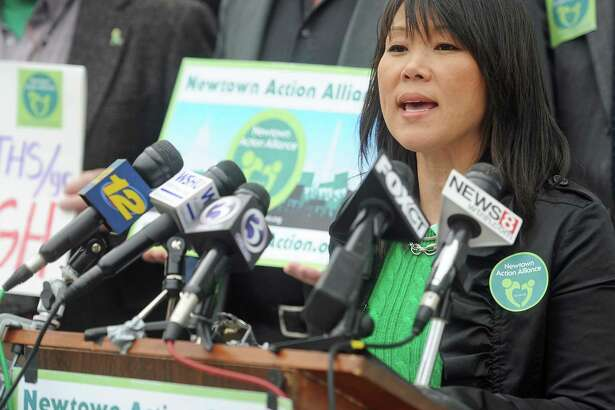 File photo: Po Murray, chairwoman of Newtown Action Alliance, 2013.