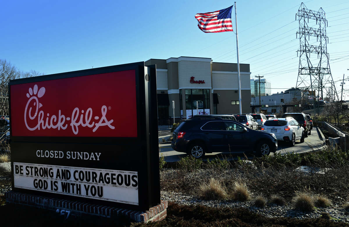 Chick-fil-a on Connecticut Avenue Tuesday, March 2, 2021, in Norwalk, Conn.