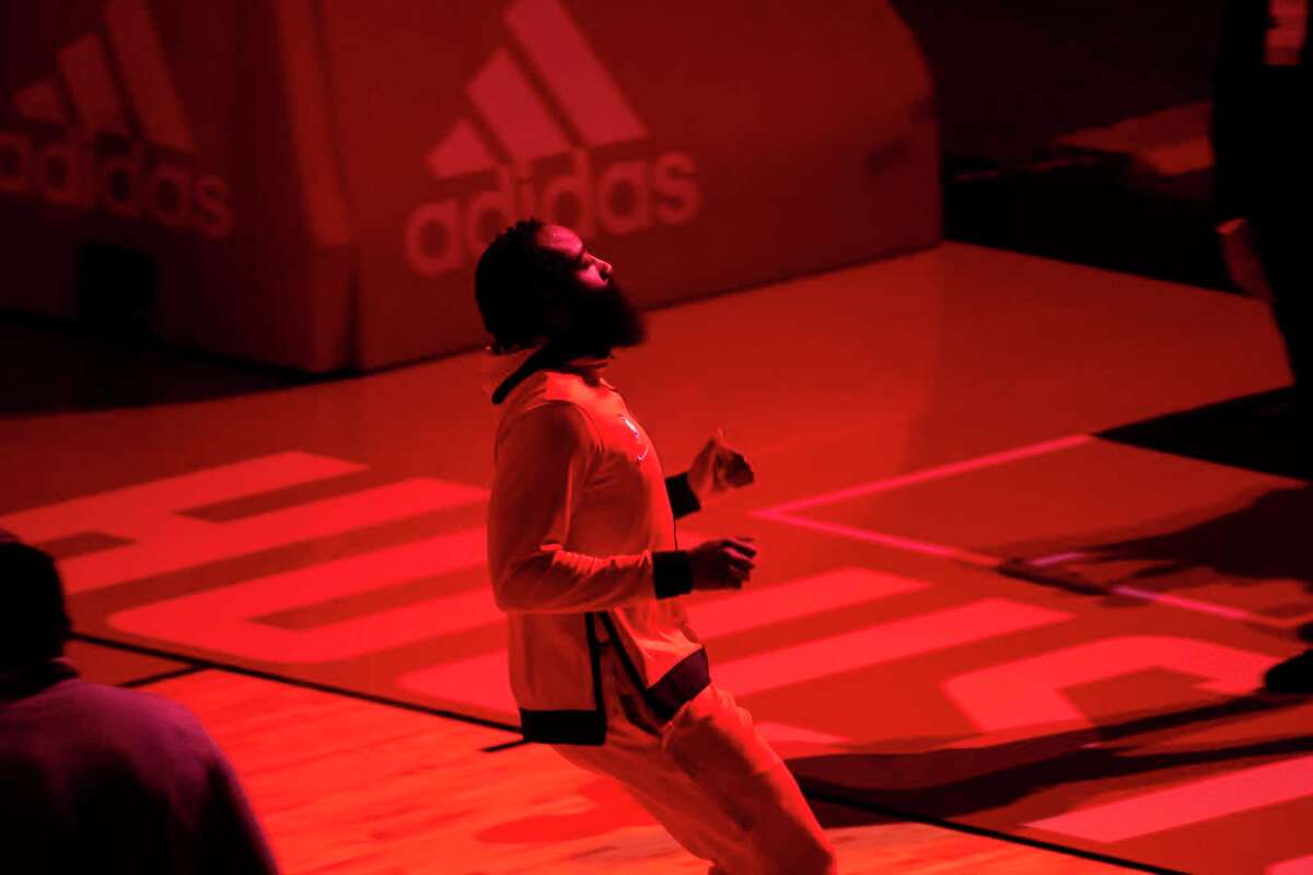 When James Harden is introduced on Wednesday at Toyota Center, it will be as part of the visiting Brookly Nets.