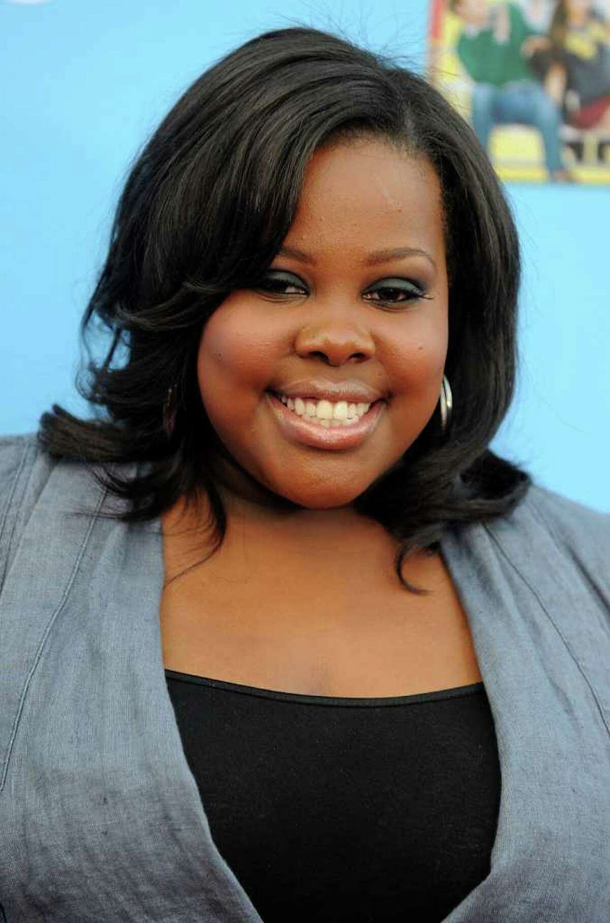"""HOLLYWOOD - SEPTEMBER 07: Actress Amber Riley arrives at the premiere of 20th Century Fox's """"Glee"""" Season 2 held at Paramount Studios on September 7, 2010 in Hollywood, California. (Photo by Kevin Winter/Getty Images) *** Local Caption *** Amber Riley"""