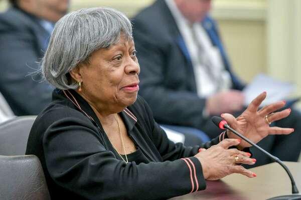 Maryland Sen. Delores G. Kelley, D-Baltimore County speaks on the Senate floor in 2017.