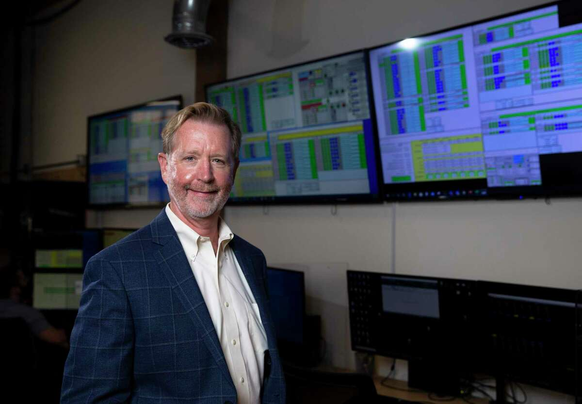 Thomas McAndrew, CEO of Enchanted Rock, LLC, poses for a photograph at the company's Microgrid Network Operations Center Thursday, Sept. 17, 2020, in Houston.