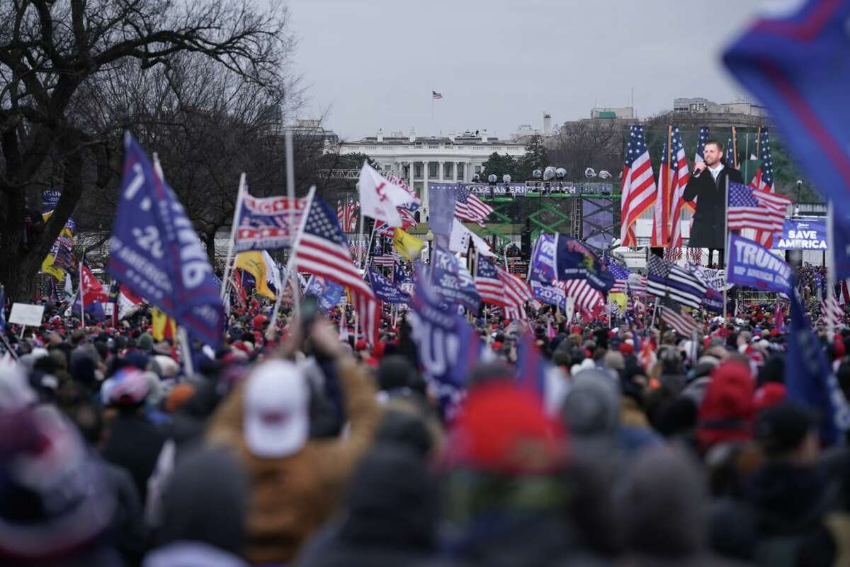 Supporters of former President Donald Trump gather Jan. 6 in Washington, D.C.