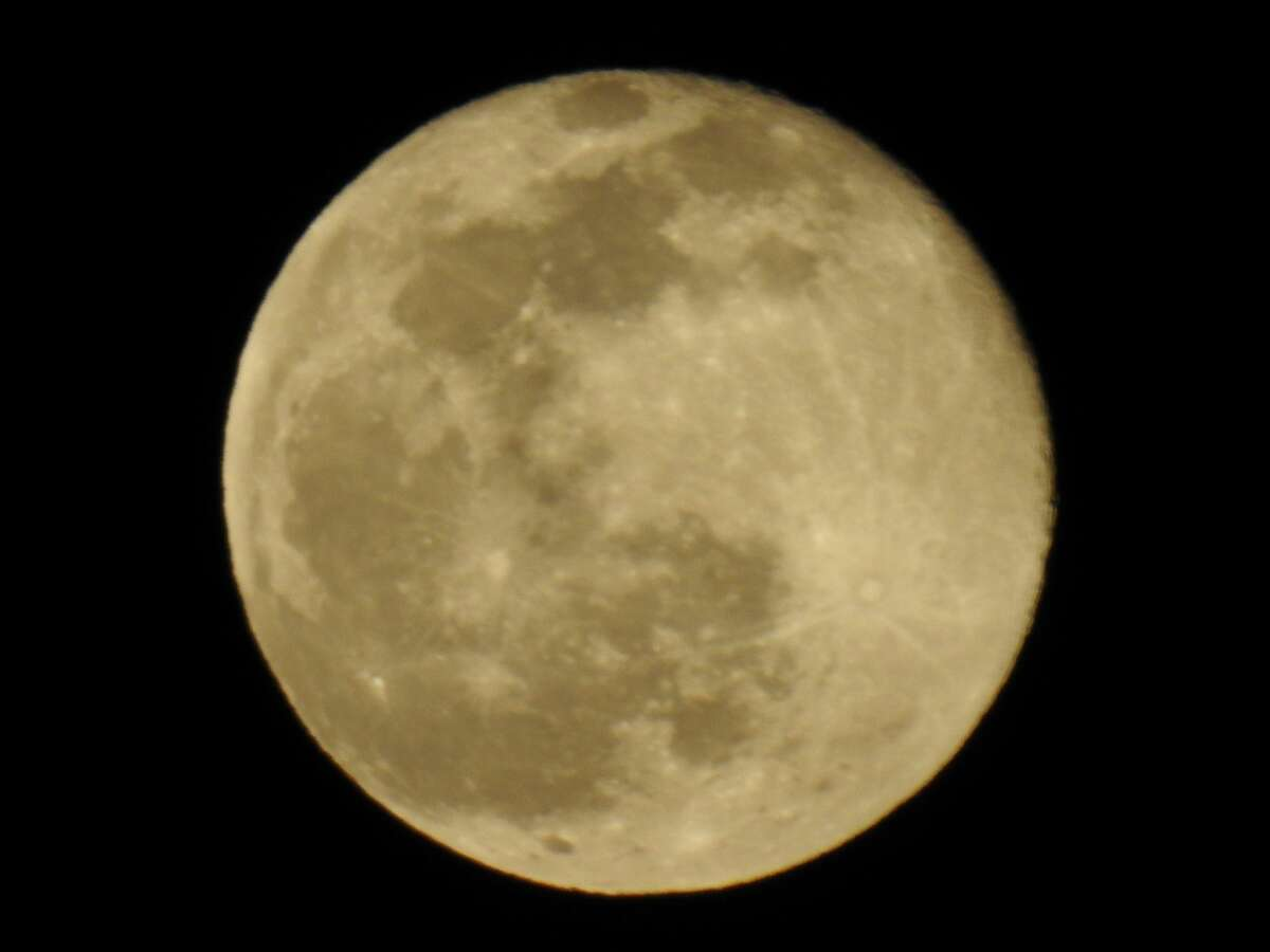 George Bross appears to be quite close to this full moon on Feb, 27 but it's taken from Albany.
