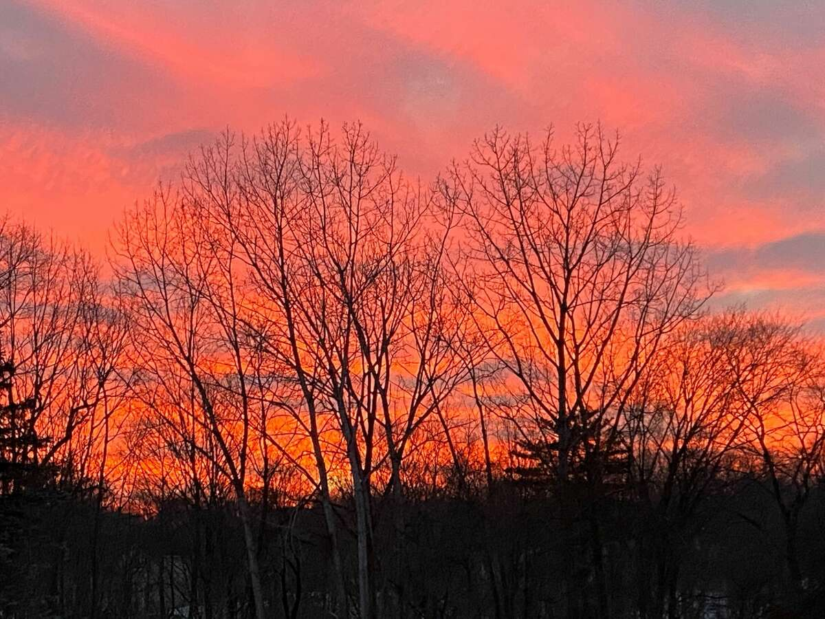 The sun sets in Latham in this image from Cathy Grose.