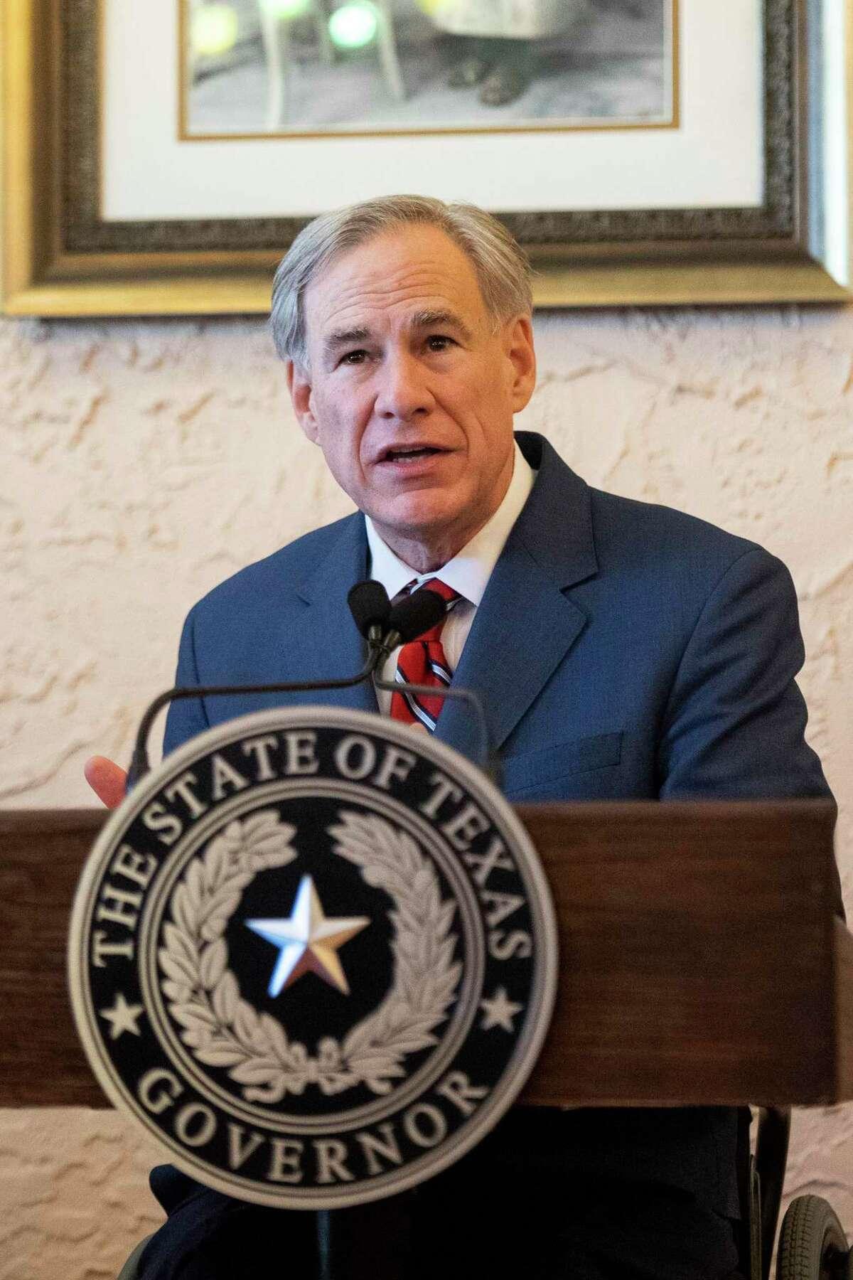 Gov. Greg Abbott, speaking in Lubbock, said Texans should still follow recommended guidelines.