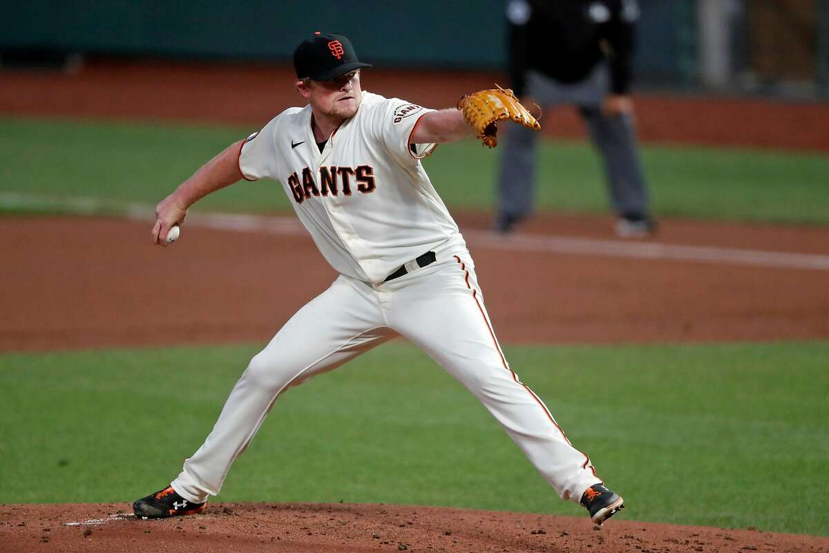"""San Francisco Giants pitcher Logan Webb's reaction to learning how to throw what is best described as a screwball: """"Ever since then, it's been my favorite pitch."""""""