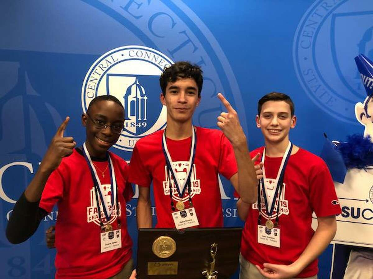 Xavier High School's fall 2019 Rocket League state championship team.