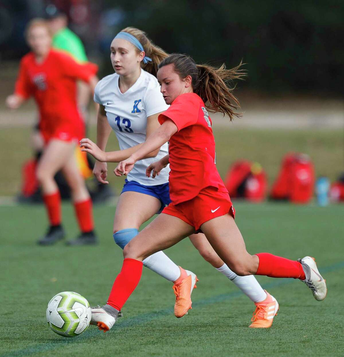The Woodlands' Katherine Williams (3), shown here earlier this season, scored against Willis Tuesday night.