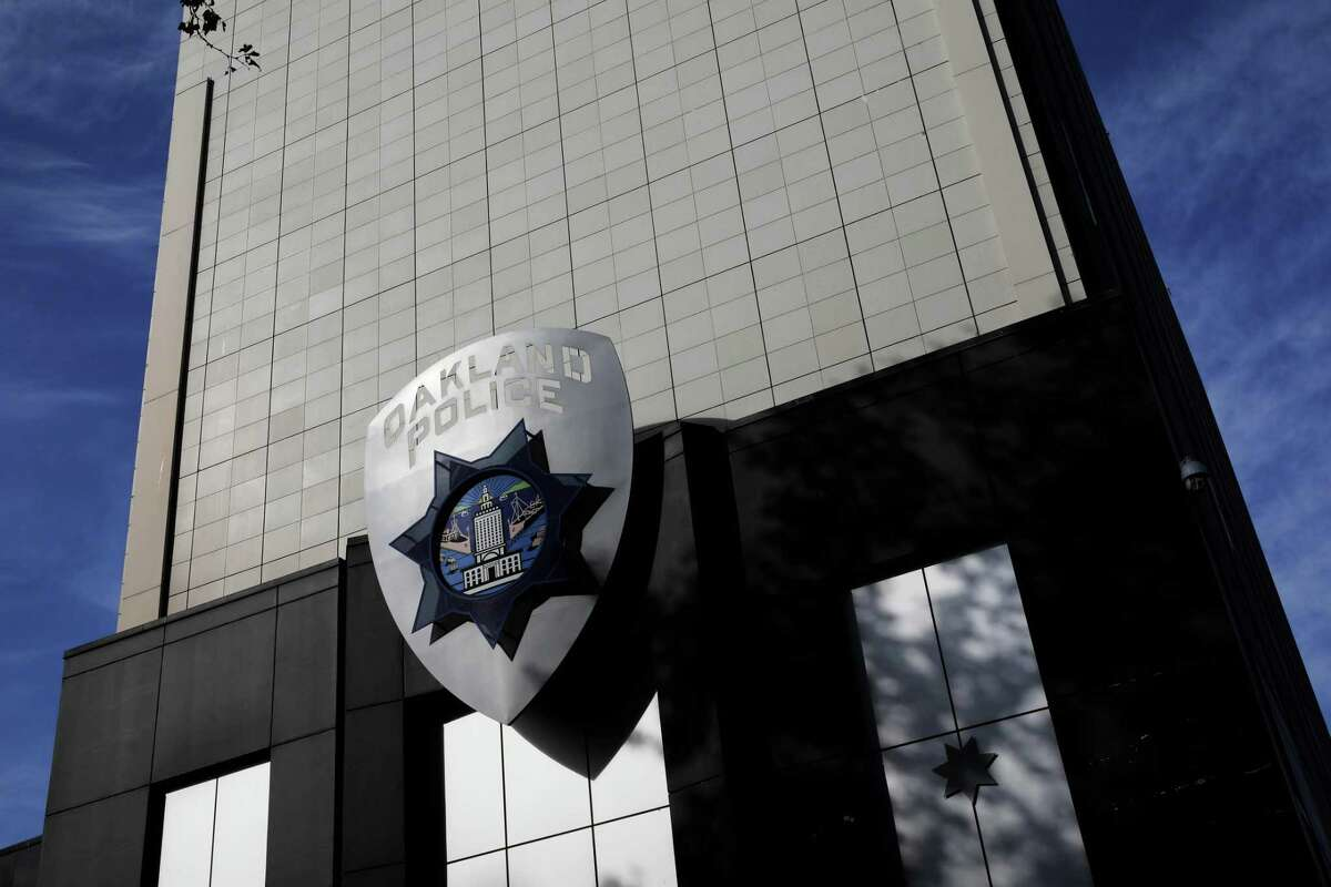 This file photograph shows the exterior of the Oakland Police Department, located at 455 7th St., in Oakland, Calif., on Wednesday, November 13, 2019.