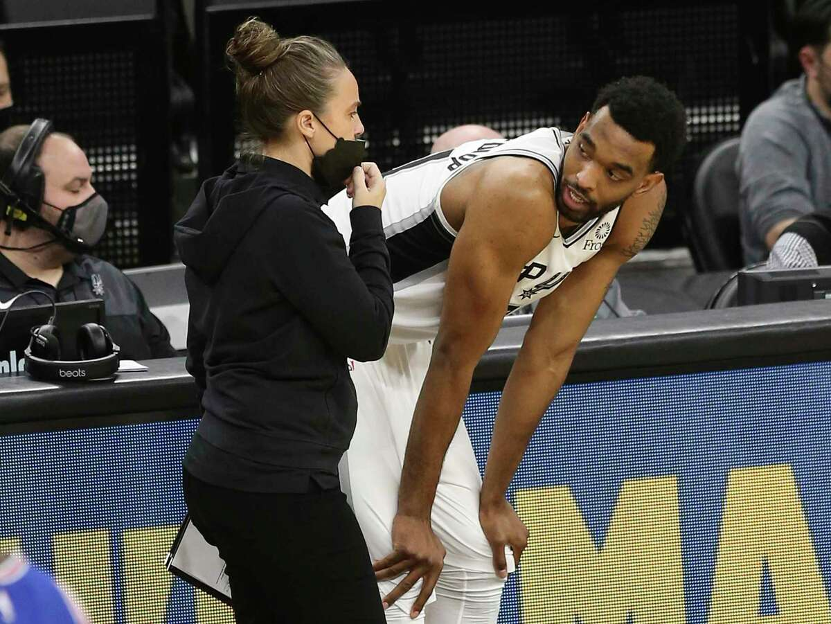 Keita Bates-Diop has played for three NBA teams in three seasons. Bates-Diop averaged 2.6 points and 1.6 rebounds in 30 games for the Spurs last season.