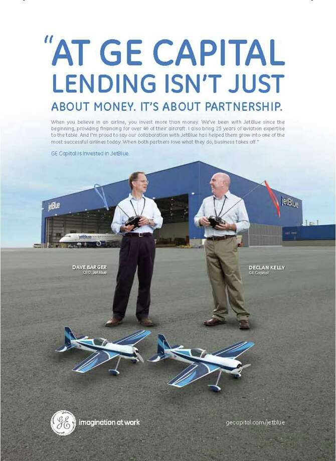Copy of a print ad from GE Capital's new awareness campaign for its business lending and leasing services. Photo: Contributed Photo / Connecticut Post Contributed