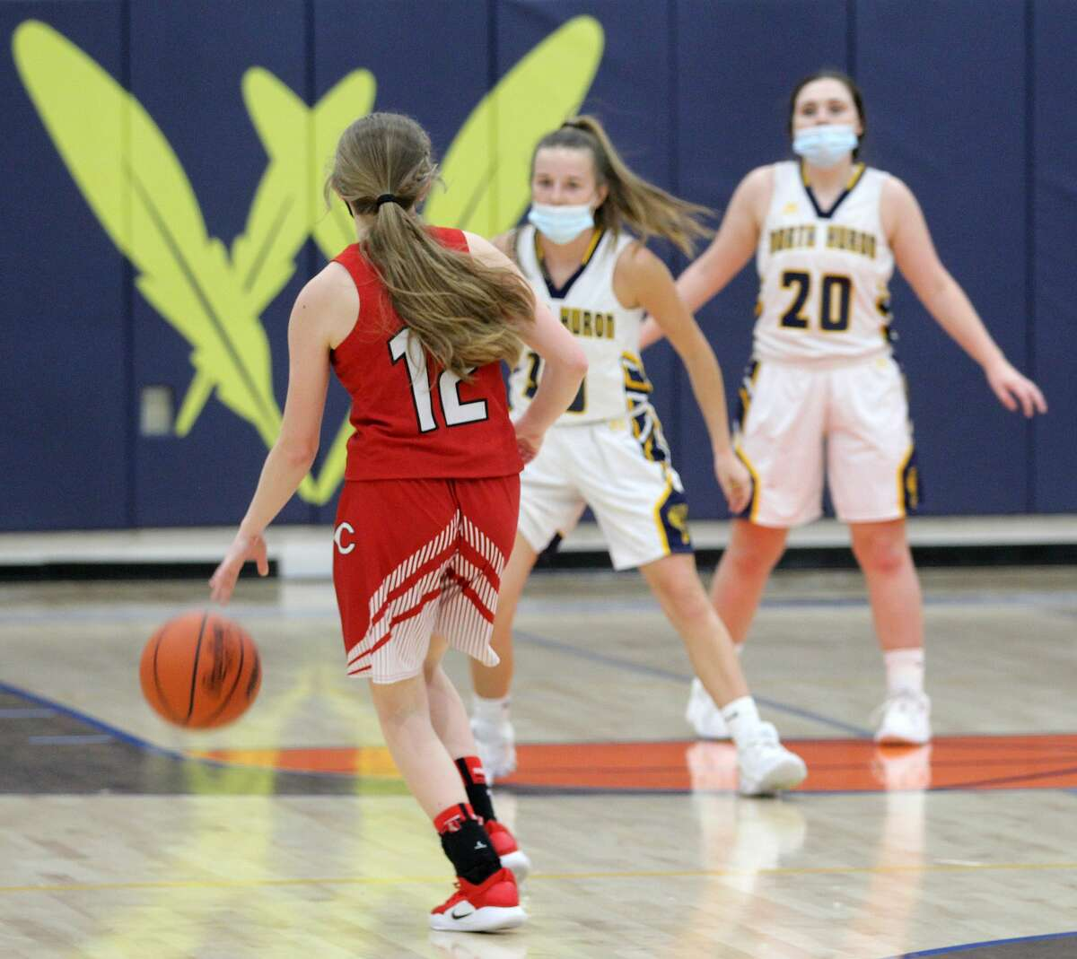 The North Huron girls basketball team outlasted visiting Caseville on Tuesday night for a 41-25 victory to remain unbeaten.