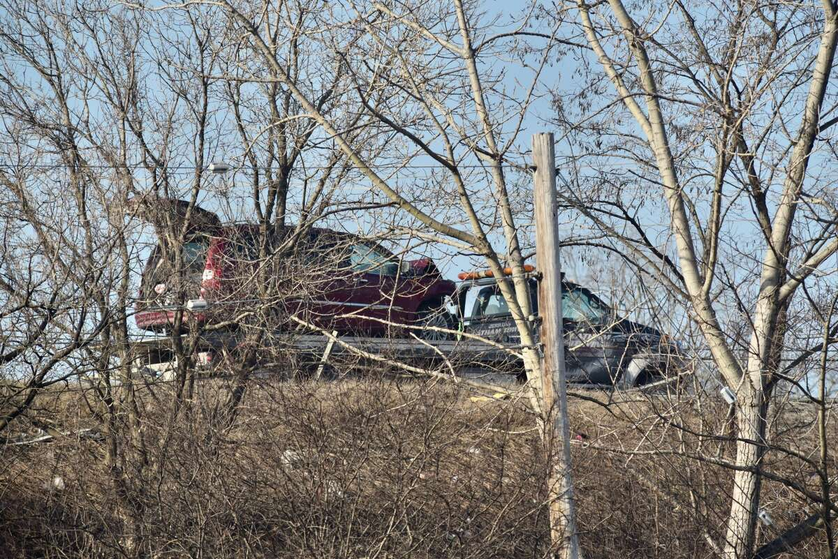 State Police investigate a crash Wednesday on Route 7 in Colonie that involved several vehicles.