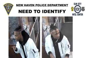 New Haven police are looking to identify a man considered a person of interest as the department investigates the shooting of a 37-year-old man in Fair Haven on Jan. 6.