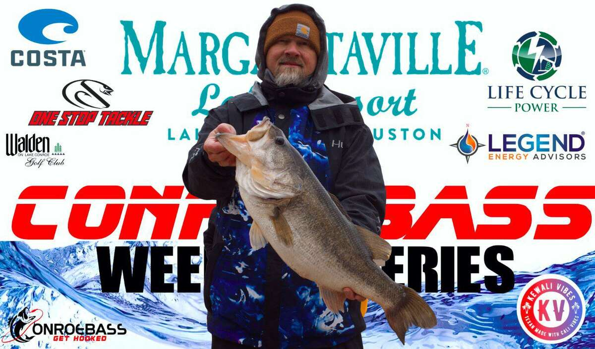 Scott Stephens weighed in the big bass in the CONROEBASS Weekend Series Tournament with a bass weight of 9.35 pounds.