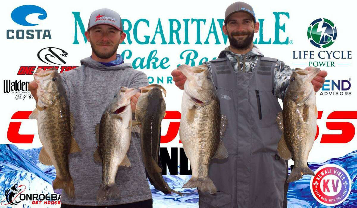Wesley Baxley and Colby Bryant came in second place in the CONROEBASS Weekend Series Tournament with a stringer weight of 21.09 pounds.