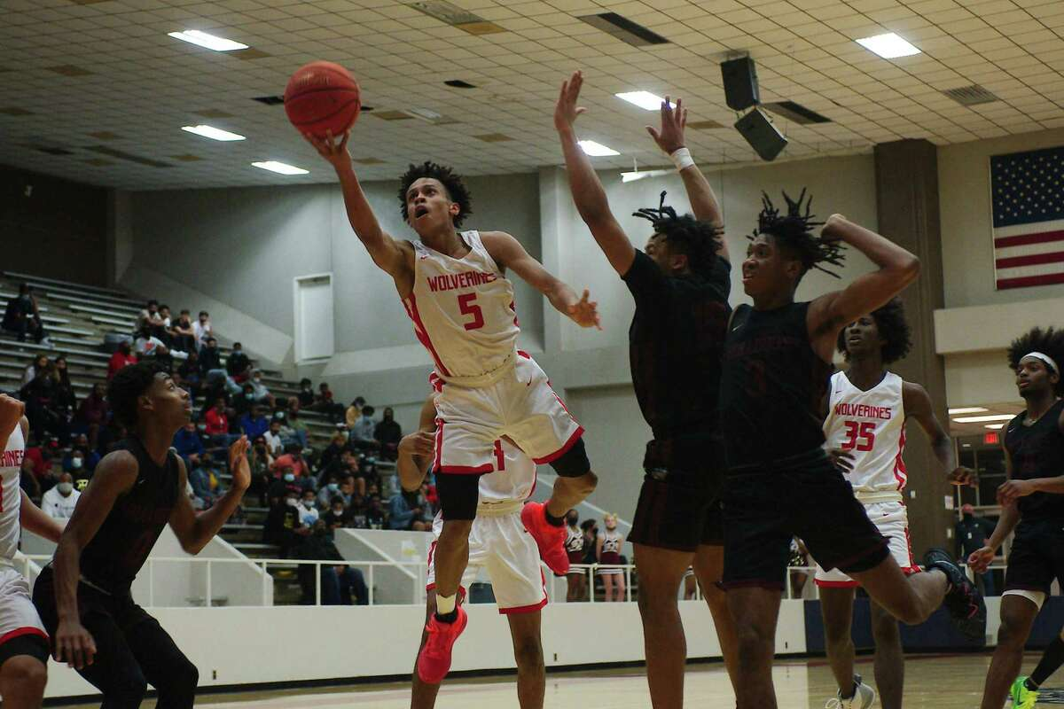 Clear Brook's Ke'Mauri Millender (5) has been selected as most valuable player on the all-District 24-6A boys' basketball team.