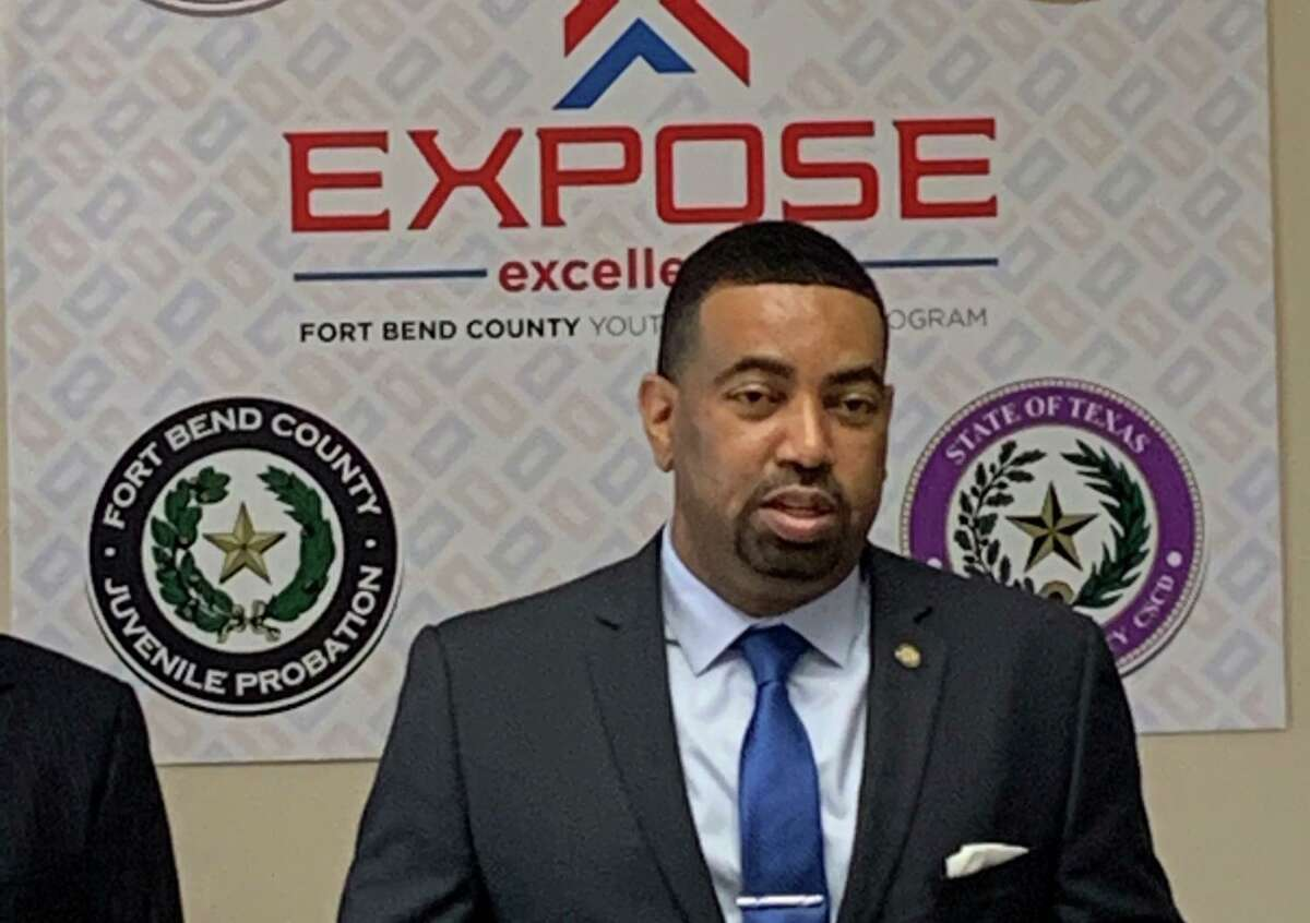 Fort Bend County District Attorney Brian Middleton announces the launch of the new Expose Excellence Youth Program on Feb. 27, 2021.