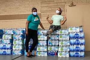 Say Her Name TX coordinated efforts to bring 330 cases of water from Richmond, Virginia to Houston, Texas.