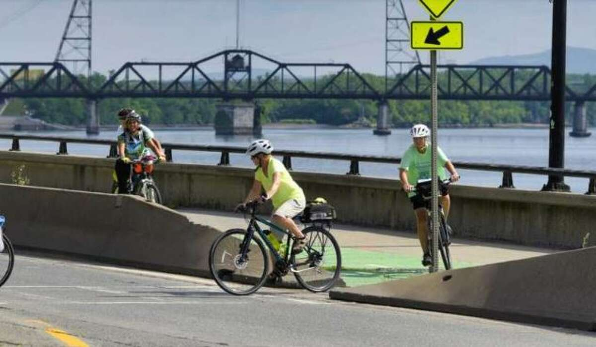 The Erie Canal, part of the state barge canal system, includes bike paths and other amenities.