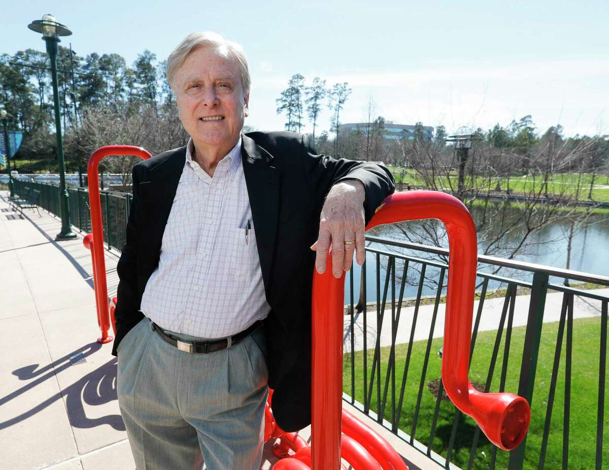 Robert Heineman, vice president of planning and design at Howard Hughes Corporation, poses for a portrait near The Woodlands Waterway, Wednesday, March 3, 2021, in The Woodlands. Heineman retired from the company after 48 years.