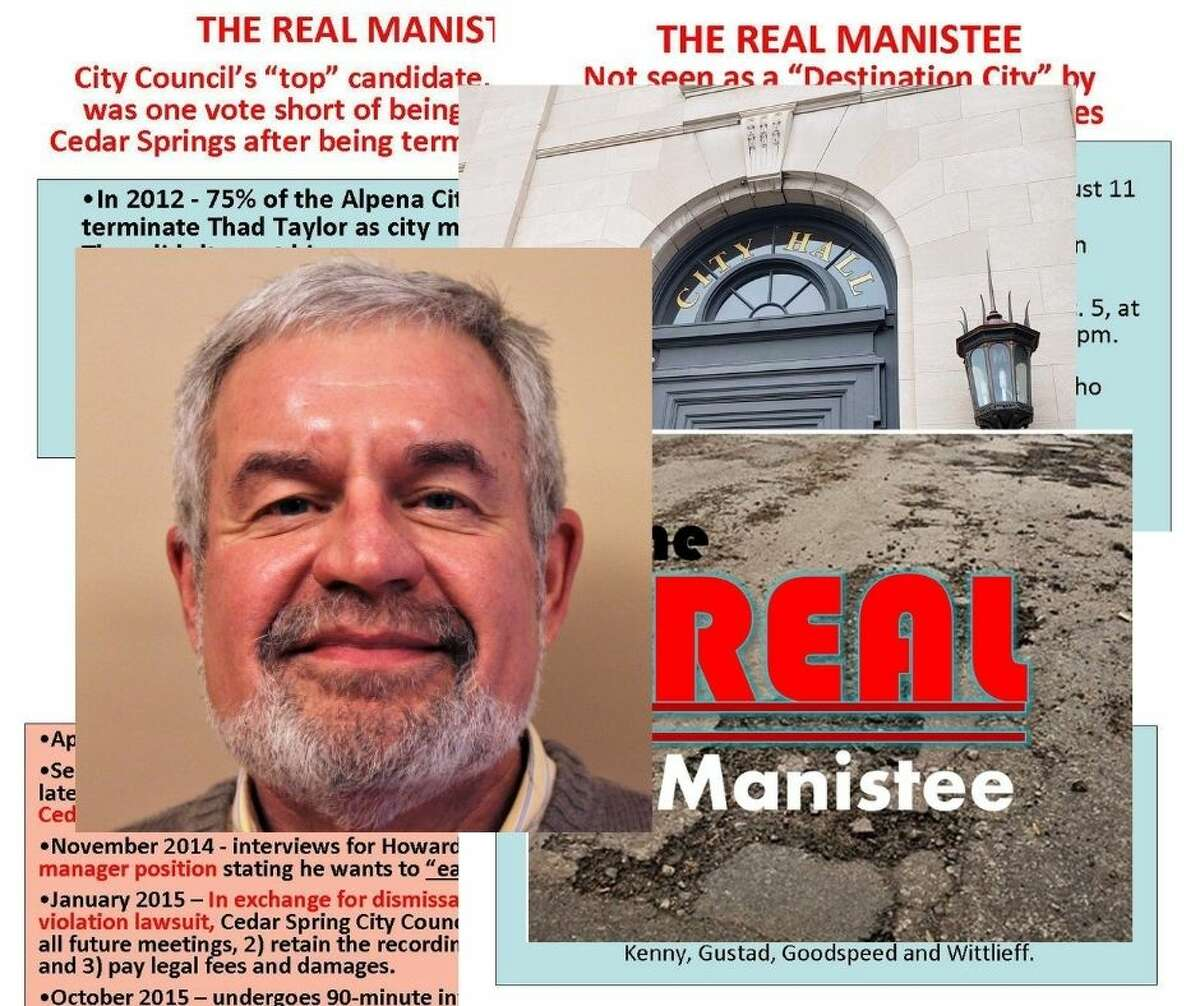 Real Manistee, a Facebook page that has administrators who remain anonymous, deterred a candidate who was being considered for city manager in 2015, according to the Michigan Municipal League. Current city manager Thad Taylor was hired in 2015. He plans to retire later this year and a search for a replacement is beginning. (Erin Glynn/News Advocate graphic)