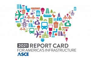 """The American Society of Civil Engineers presented the U.S. infrastructure grades at its """"2021 Report Card for America's Infrastructure"""" Zoom event, on March 3, 2021."""