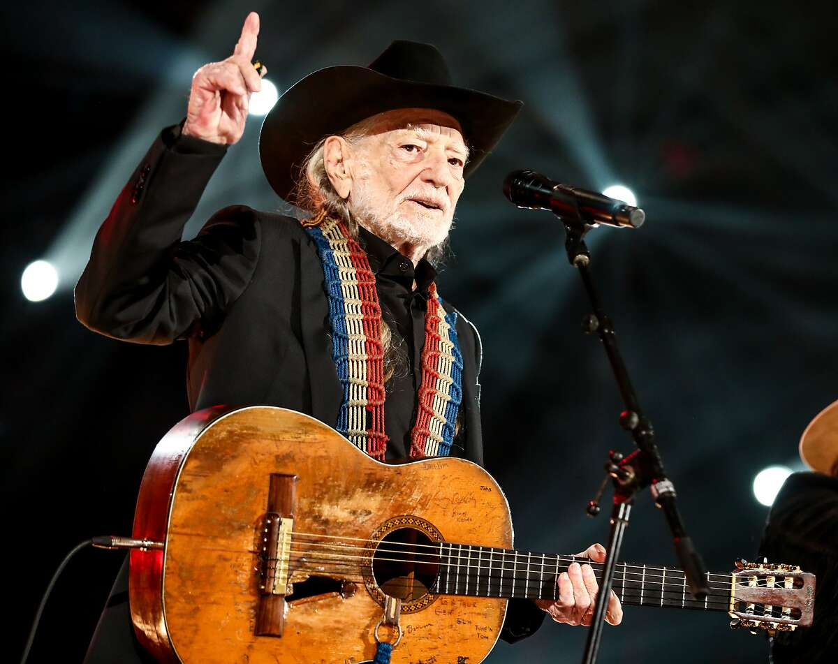 Willie Nelson performs at MusiCares Person of the Year honoring Dolly Parton at Los Angeles Convention Center on Feb. 8, 2019 in Los Angeles.