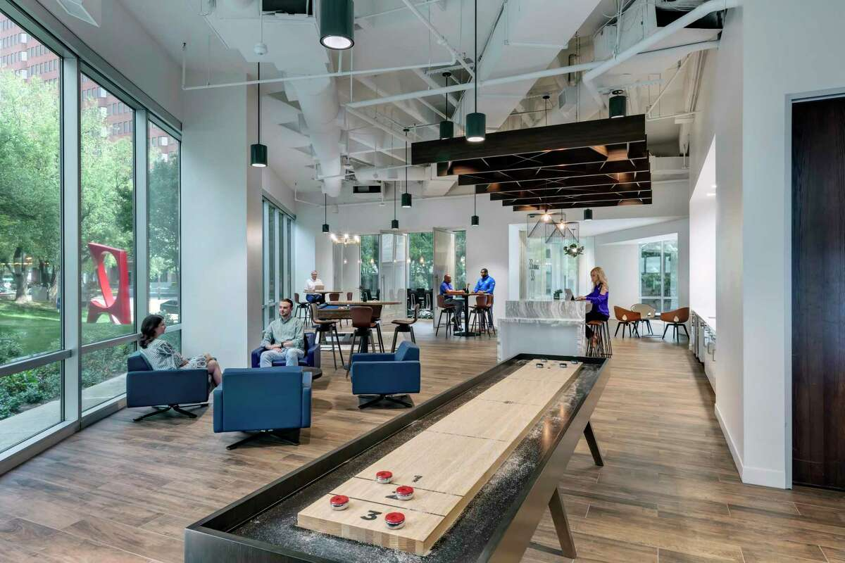 Granite Properties offers areas for tenants to lounge and on-demand office space at its 333 Lee Parkway building in Dallas. The company launched evolve, a collection of office solutions designed to help tenants adapt to changing business needs.