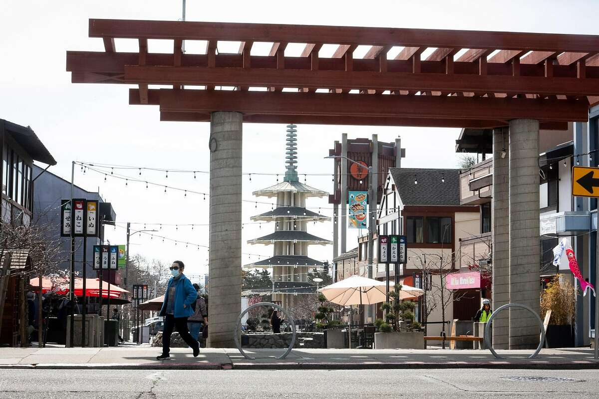 The Peace Pagoda is one of the most familiar features in San Francisco's Japantown.