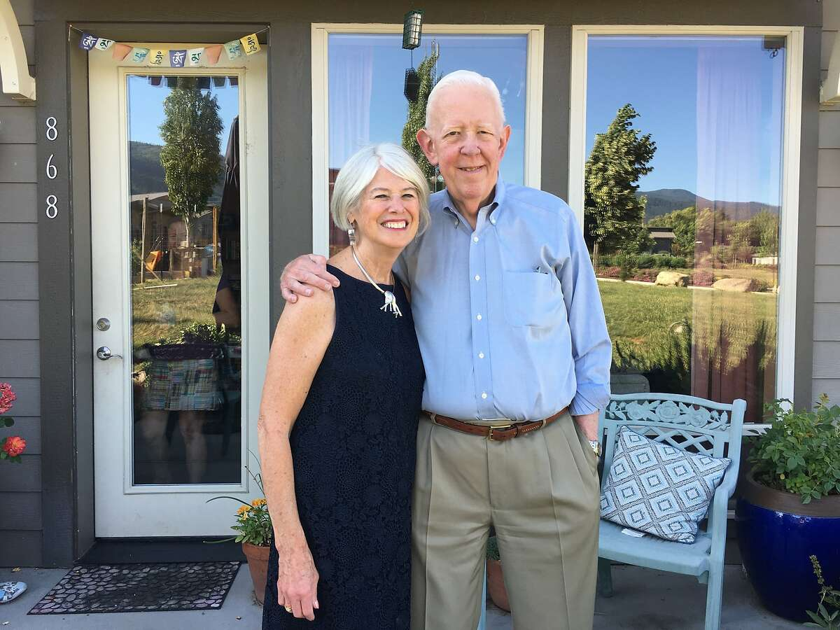 Mike Brown with wife Kathy in Ashland, Ore., in June 2019 on their 50th wedding anniversary.