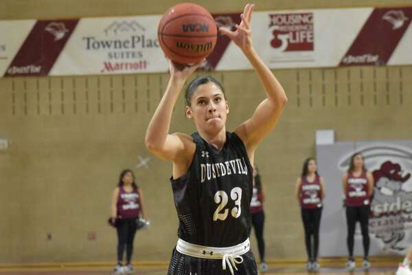 TAMIU's Nicole Heyn finished her senior season averaging 14.3 points which included 51 3-pointers, and she added 155 rebounds and 45 steals.