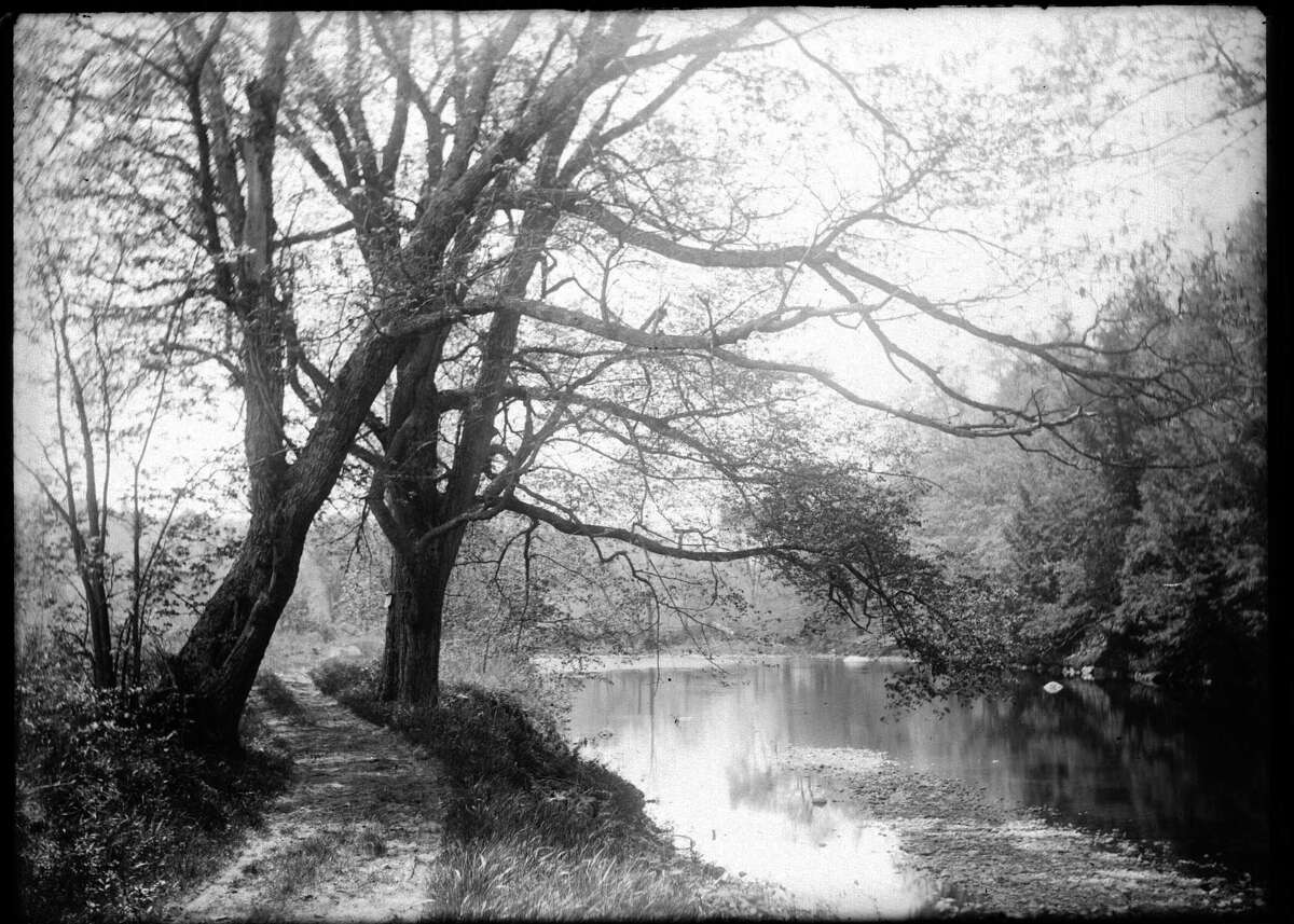 Then: Shepaug River in Steep Rock Preserve in photo by Joseph West, from the collection of the Gunn Museum.