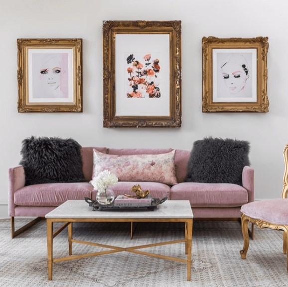 Modern glam furniture designed by The Joseph Company.