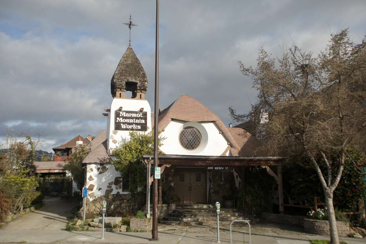 The exterior of what was once the Little Chapel of the Flowers, across the street from Ashby BART in Berkeley.